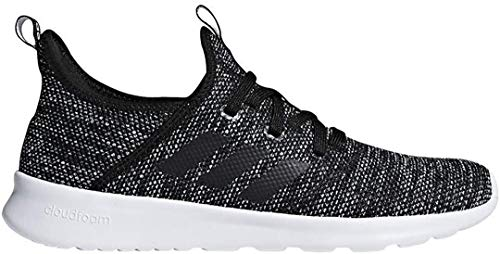adidas Women's Cloudfoam Pure Running Shoe, Black/Black/White, 7 Medium US