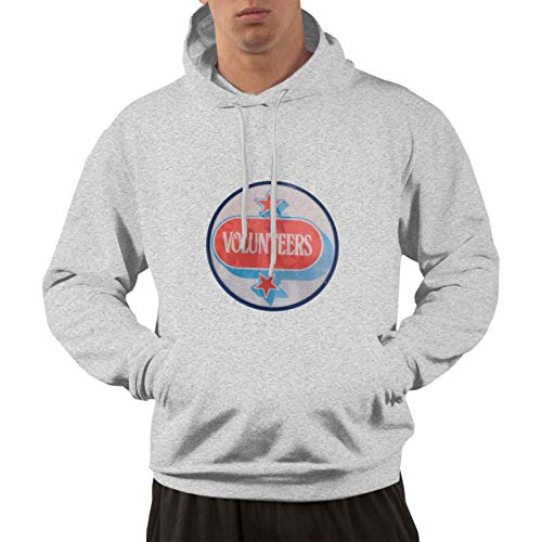 Jefferson Airplane Volunteers Men'S Sweater Personality 3 Print All-Match Warmth Hooded Sweatshirt Gray