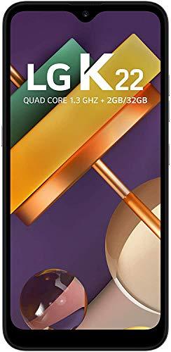 Smartphone LG K22 , 2GB/32GB, Tela de 6, Câmera Dupla 13Mp+2Mp, Selfie de 5Mp, Processador Qualcomm QM215 , Bateria 3,000mAh , Titanium