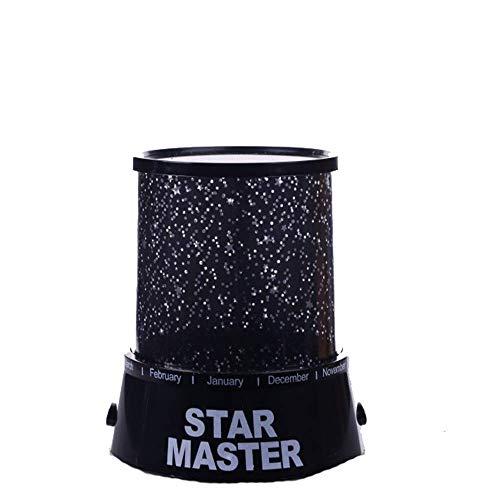 Lámpara de proyección LED de noche de estrella para niños LED Universo lámpara de proyección para cumpleaños (color morado, tamaño: talla única)