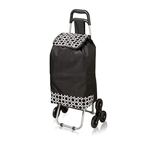 HYY-YY Portátil supermercado ancianos empuje puede sentarse carrito de supermercado Shopper Maleta...