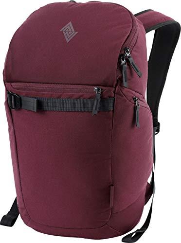 Nitro Nikuro Daypack Alltagsrucksack Schulrucksack Sportrucksack Wasserabweisende Reissverschlüsse Laptopfach, Wine, 26 L