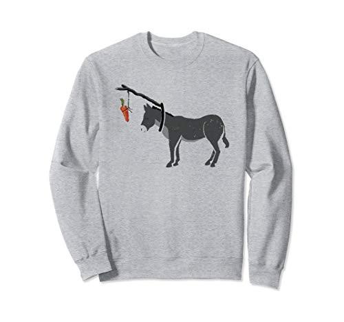 lustiger Esel nach Karotte, sarkastisches lustig Esel baby Sweatshirt