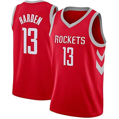 WANLN Camiseta para Hombre - NBA Houston Rockets 13# Harden Camiseta de Baloncesto de Malla Bordada Swingman,Rojo,L