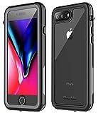 Oterkin iPhone7 Plus 防水ケース iPhone8 Plus 防水ケース 耐衝撃 防塵 透明 薄型 ストラップ……