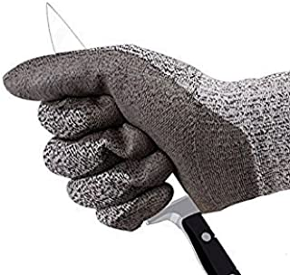 SAFEYURA ® Cut Resistant Gloves Level 5 Protection Food Grade EN388 Certified Safety Gloves for Outdoor Fishing Gardening