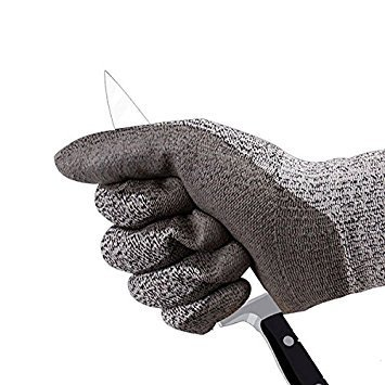 SAFEYURA® Cut Resistant Gloves Level 5 Protection Food Grade EN388 Certified Safety Gloves for Outdoor Fishing Gardening etc