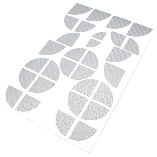 Pegatinas Finest-Folia para las esquinas de las hojas, de carbono 4D