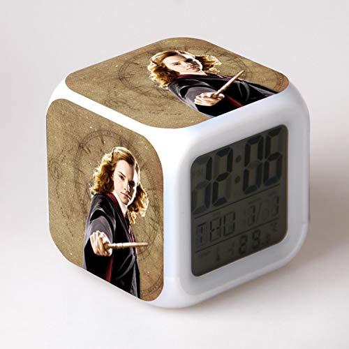 potente para casa SXWY Harry Potter Reloj despertador digital, luces de colores, reloj despertador, reloj cuadrado …
