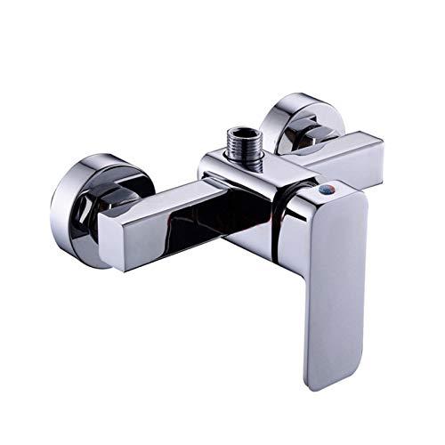 LXH-SH Das elektromagnetische Ventil Zink-Legierung Badezimmer-Dusche-Hahn-Ventil der Wand befestigte Einhand-Platz Badewanne Dusche Einhebelmischer Warm- und Kaltwassermischbatterie Industriebedarf