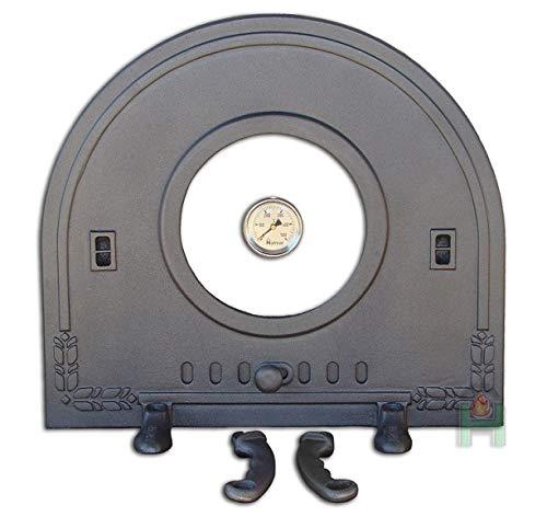 Ssellon H2212 - Puerta de horno de hierro fundido con termómetro