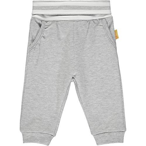 Steiff Baby-Jungen mit süßer Teddybärapplikation Jogginghose, Soft Grey Melange, 050