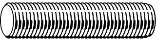 Threaded Rod, B7 Alloy Steel, 3/8-24x3 ft