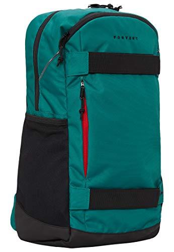 FORVERT Larry,Unisex,Damen,Herren,Daypack,Rucksack mit 15 Zoll Laptopfach,Boardcatcher,gepolsteter Rücken und Trageriemen,deep Green,one Size