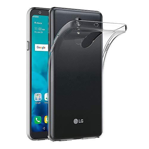 AICEK Hülle Compatible für LG Q Stylus Transparent Silikon Schutzhülle für LG Q Stylus Hülle Clear Durchsichtige TPU Bumper LG Q Stylus Handyhülle (6,2 Zoll)