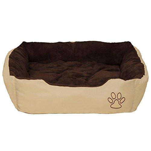 TecTake Hundebett Hundekissen Hundesofa Schlafbett braun - Diverse Größen - (Größe L | no. 401420)