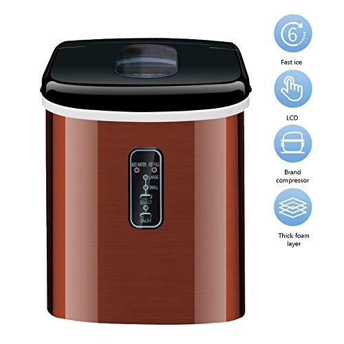 DBSCD Máquina automática de Hacer Hielo, máquina de Hacer Hielo Redondo de 16 kg/24 h para la Familia, pequeña cafetería Familiar