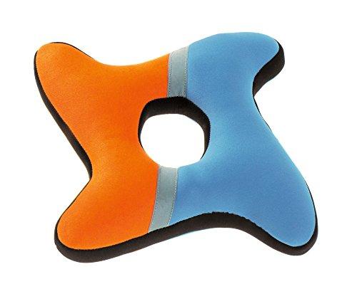HUNTERH AQUA FRISBEE Hundespielzeug, Wasserspielzeug, schwimmfähig, Neopren, 25 cm, orange/blau