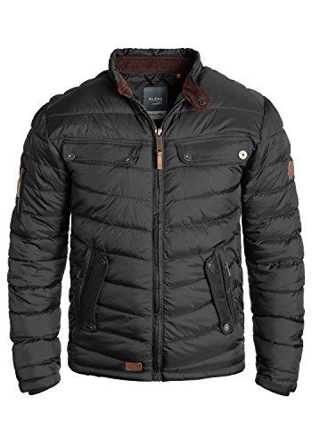Blend Camaro Herren Steppjacke Übergangsjacke Jacke mit Stehkragen, Größe:L, Farbe:Phantom Grey (70010)