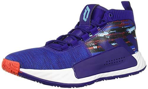 adidas Men's Dame 5 Basketball Shoe, Collegiate Purple/Collegiate Royal/White, 11 M US