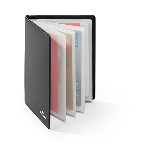 Durable 230958 estuche para tarjetas de crédito con protección rfid, estuche para 8 tarjetas, negro