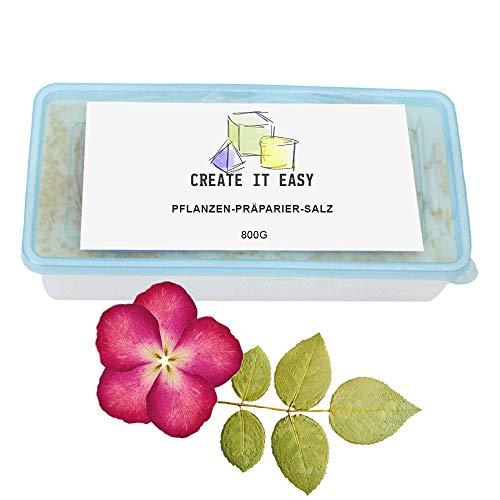 CREATE IT EASY NEU Präparier-Salz, 800g zum Austrocknen von Blumen und Pflanzen