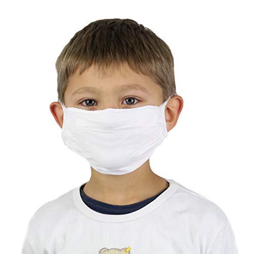 Sedax ® 5 x Innovative Silber-Ion Kinder-Maske Stoffmaske 2-Lagig Extrem Atmungsaktiv & Waschbar | Mundschutz-Maske für Jugendliche mit Motiv | Behelfsmaske Mund und Nasenschutz Schutzmaske