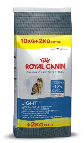 Royal Canin Katzenfutter Feline Light 40, 10 kg + 2 kg gratis, 1er Pack (1 x 12 kg Packung)
