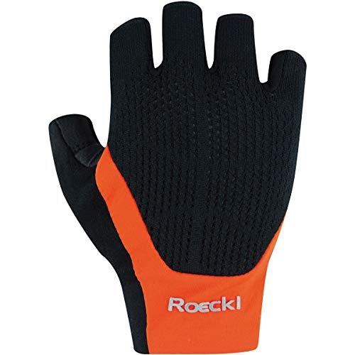 Roeckl Icon Fahrradhandschuhe, Black-orange, EU 8.5