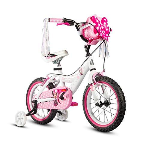 SGMYMX Jungen Fahrrad Kinderfahrrad Mädchen Ice Romantik Aisha Princess Kinderwagen 12/14/16 Zoll Fahrrad Stabilisator und Korb Kinderfahrrad, B