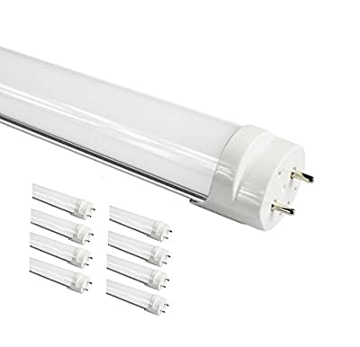 """Fulight® True-Color & Warm ¤ LED Tube Light (Dimmable)- T8 4FT 48"""" 18W (32W Equivalent), Soft White 3000-3500K, F32T8, F34T12/WW, Double-End Powered, Frosted Cover - Full-Spectrum Fluorescent Replacement Bulbs for Eye Care, Kids Room, Nailing, Makeup, S"""