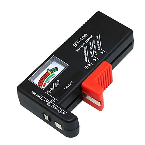 WOSOSYEYO Testeur de capacité de Batterie numérique Outil de Diagnostic Affichage à Cristaux liquides Testeur de Batterie Universel Vérifier 9V 1.5V AA AAA Bouton Cellule BT-168D