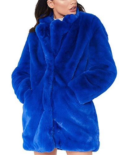 HX fashion Chaqueta De Piel Abrigo Piel Para De Mujer Cuello Tamaños Cómodos Redondo De Manga Larga Abrigos De Piel Sintética Moda 2020 Ropa De Mujer
