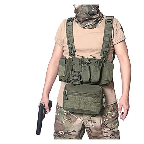 Chaleco táctico , Bolsa de accesorios tácticos al aire libre Bolsa Utilidad UTILIZACIÓN EDC Bolsa de caza militar Chaleco de caza de tiro Asalto Chaleco táctico para entrenar juegos de paintball