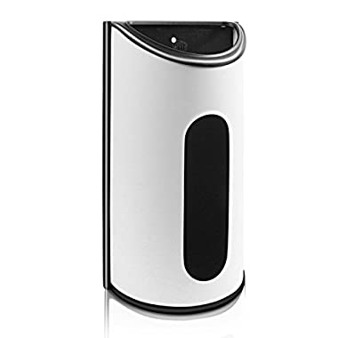 Fortune Candy Stainless Steel Plastic Bag Holder,Saver,Dispenser Fingerprint-Proof and Wall Mount Grocery (white)