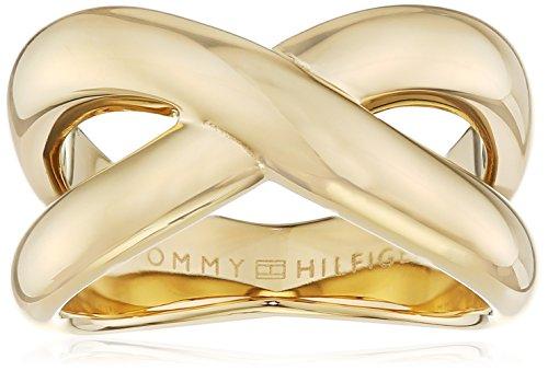 Tommy Hilfiger Jewelry Classic Signature 2700964D - Anillo para mujer (acero inoxidable, talla 56)