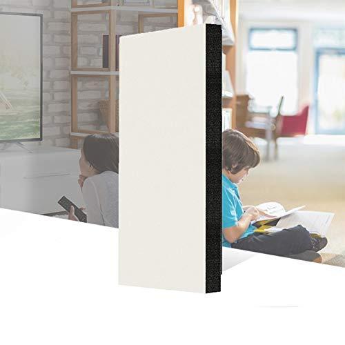 wxq Autoadhesivo Espuma Acústica, 40% Fieltro Reductor De Ruido Panel De Tratamiento De Absorción De Sonido Azulejos De Pared De Estudio (Color : White, Size : 100x50x2cm)