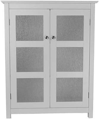 Elegant Home Fashions Dixie Bathroom Cabinet, White