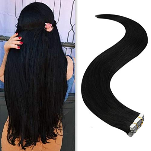 Jet Black Real Real Tape in Hair Extension