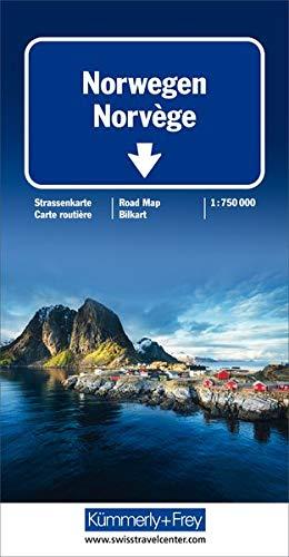 Norwegen Strassenkarte 1:750 000 (Kümmerly+Frey Strassenkarten)