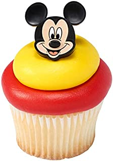 24 Mickey Mouse Cupcake Rings Toppers