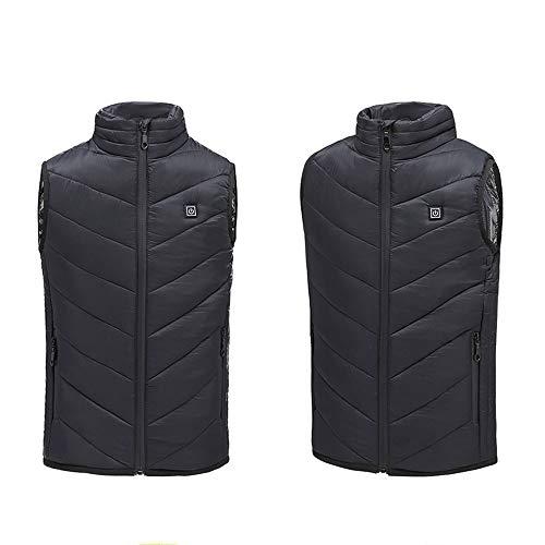 Elektrische verwarmd vest voor kinderen, gemakkelijk verwarmde gilet voor mannen en vrouwen, wasbare verwarmingskleding, vaste instelbare temperatuur, oplaadbaar via USB