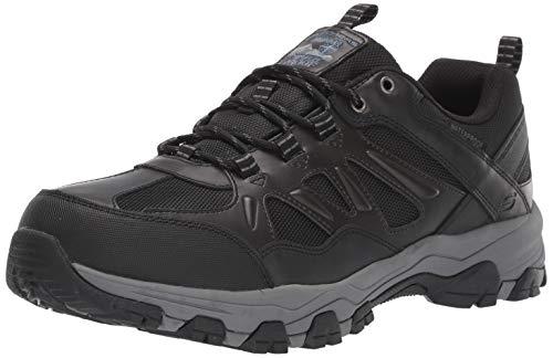 Skechers Men's SELMEN-ENAGO Trail Oxford Hiking Shoe, Black, 12 Medium US