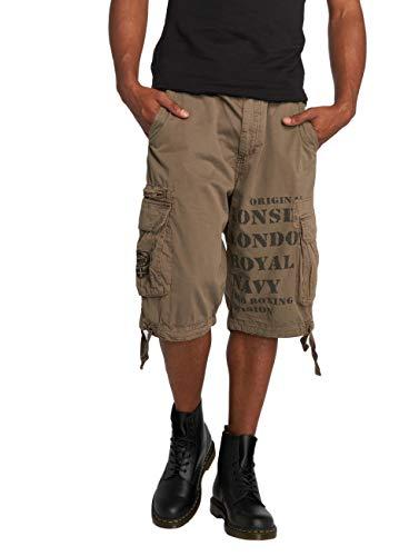 Lonsdale Herren Sport Shorts Shorts Plain grau (Steingrau) Medium