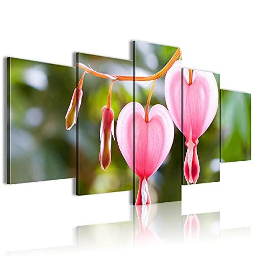 Decoración de arte visual 5 piezas de lienzo de arte de pared Núcleo del estambre La imagen imprime la decoración de la pared de la pintura estirada para la oficina moderna 60'x32'(Sin marco)