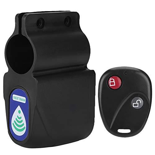 Alarma Remota de Bicicleta, Cerradura de Seguridad para Bicicleta con Control Remoto Inalámbrico, Inalámbrico Alarma de Vibración de Seguridad Bloqueo Antirrobo para Bicicleta de Montaña y Carretera