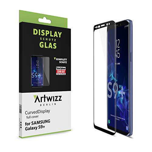 Artwizz CurvedDisplay Sicherheitsglas für Samsung Galaxy S9 Plus - vollflächiger Displayschutz mit Anti-Splitterschutz - Bildschirmschutz designed in Berlin - 7448-2218