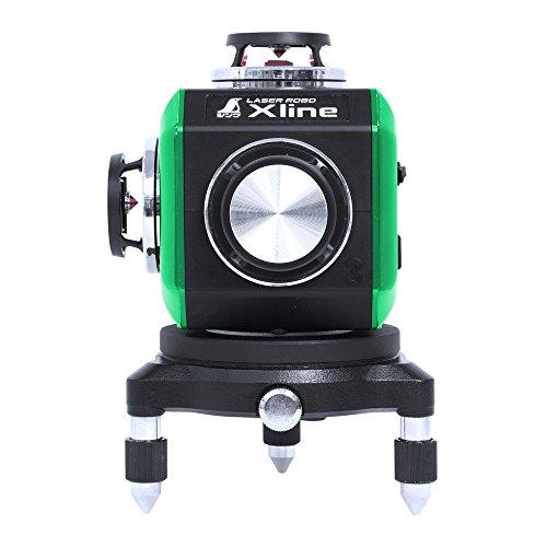 シンワ測定(Shinwa Sokutei) レーザー墨出し器 LASER ROBO X-Line レーザーロボ エックスライン グリーン フルライン・地墨クロス 71608