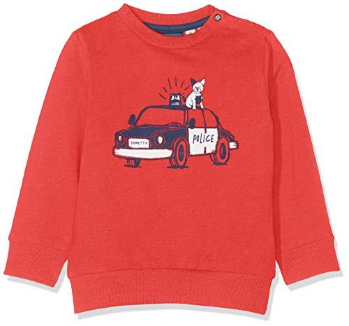 Sanetta Baby-Jungen Sweatshirt, Rot (Lax Red 38054), 68 (Herstellergröße: 068)