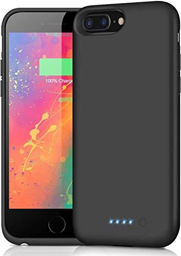 Ekrist Funda Batería para iPhone 8 Plus / 7 Plus / 6 Plus / 6s Plus, 8500mAh Funda Cargador Portatil Ultra Capacidad Carcasa Batería Recargable Batería Externa para iPhone 8 Plus 7 Plus 6 Plus 6s Plus